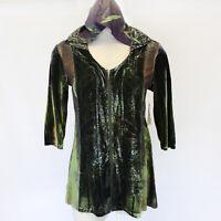 NEW One World Plus Velvet Fall Winter Zip Hoodie Sweater Blouse Top Jacket 2X