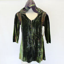 NEW One World Plus Velvet Fall Winter Zip Hoodie Sweater Blouse Top Jacket 2X