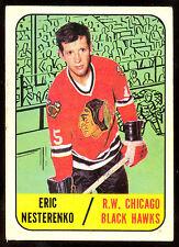 1967 68 TOPPS HOCKEY #60 ERIC NESTERENKO VG-EX CHICAGO BLACK HAWKS CARD