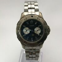 Guess Mens Waterpro Day And Night Stainless Steel Quartz Analog Wristwatch