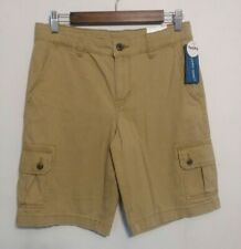 Boys Arizona Khaki Cargo Shorts Size 16 Husky adjustable waist Uniform