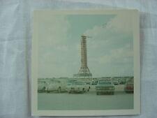 Vintage Car Photo Rocketship in Automobile Parking Lot 780