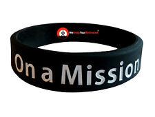 ON A MISSION Wristband Motivational Inspirational Ionic Tourmaline Negative Ion