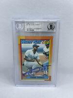 Frank Thomas Signed 1990 Topps #414 Rookie Card Beckett White Sox HOF 6