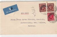 great britain 1935 london cancel air mail stamps cover ref 21386