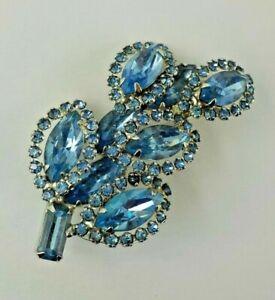 Vintage WEISS Juliana BROOCH PIN Cluster Rhinestones Flower Silver Tone Jewelry