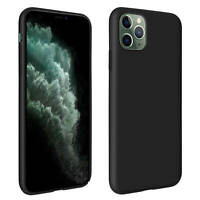 Apple iPhone 11 Pro Max Silicone Semi-rigid Case, Soft Touch Matte Finish Black