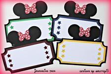 Craftecafe Disney Tag Mice paper piecing premade scrapbook diecut piece Wolffey5