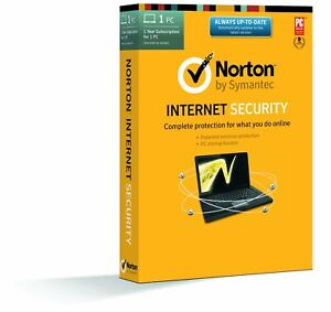 Norton Antivirus/Internet Security 2021 1 User 1 PC 1 Year Product Key email WIN