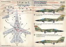 SCALA di stampa Decalcomanie 1/72 GENERAL DYNAMICS F-111A Aardvark # 72268