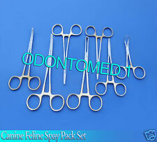 SET OF 7 PCS CANINE FELINE SPAY PACK SURGICAL INSTRUMENTS KIT WITH GOLD DS-820