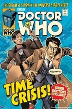 DOCTOR WHO ~ TIME CRISIS ~ 24x36 COMIC ART POSTER DR TV BBC SMITH TENNANT