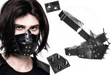 Masque gothique punk steampunk bondage cuir spike clouté réglable Punkrave homme