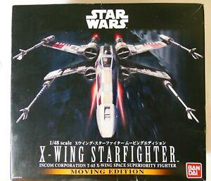Bandai Star Wars 1/48 X-Wing Starfighter Moving Edition BNIB from Japan
