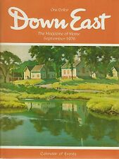 Down East Maine Magazine 1976 September Mt Desert/Augusta/Damariscotta/Portland