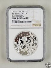 Canada Silver Coin 20 Dollars 2012, Crystal Snowflake, NGC PF 70 ULTRA CAMEO