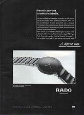 Publicité Advertising 1993  Montres  RADO  la coupole ' Ceramique'