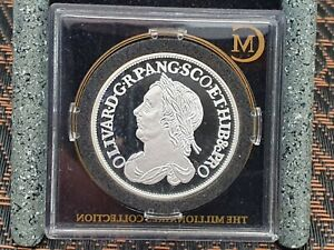 Millionaires Collection Proof Cromwell 1658 sixpence Sterling silver Hallmarked