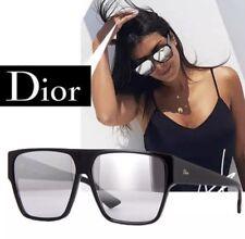 Christian Dior HIT Black Grey Silver Mirror 807 Men Women Sunglasses Lightweight