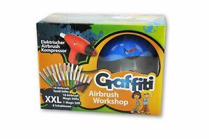Pustestifte Malstifte Wachsmaler Airbrushkompressor Graffiti Airbrush Workshop