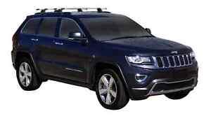 Jeep Grand Cherokee WK2 Steel Rails 5 Door SUV   Whispbar Through Bar Roof Racks