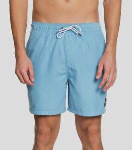 "$110 Quiksilver Men's Blue Everyday 17"" Volley Shorts Swim Trunks Size XL"