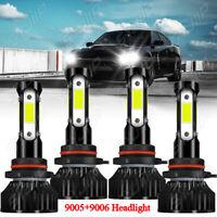 For Dodge Charger 2006 2007 2008 2009 4x 6000K LED Headlights High&Lo Beam Bulbs