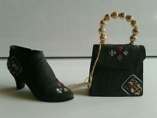 Just The Right Shoe. Queen Of Hearts Miniature Shoe And Purse. 25325. 25326.