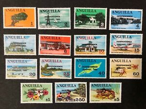 Anguilla #53-67 Complete Set 1969 MNH