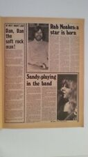 SANDY DENNY RAB NOAKES 1974 UK ARTICLE / clipping