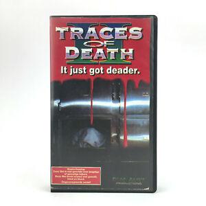 TRACES OF DEATH 2 TERROR FALSO DOCUMENTAL 1994 GORE MONDO FILM SHOCKUMENTARY VHS