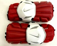 New Nike Vapor Adults Medium Red/White Lacrosse Protective Arm Guards