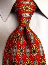 Richel Rouge Soie Cravate Main Fabriqué en Espagne A5682