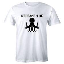 Release The Octopus Shirt Titan Giant Monster Squid Boat Men's T-shirt Tee