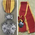 """Vietnam Rare """" National Order """" 2 Medals (Special Version)  Silver Class"""