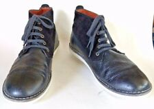 POINTER CYRIL ll Chukka Boot Leather Nubuck Suede Shoe 11M Black White Portugal
