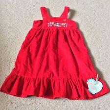 Little Bird 9-12 Month Red Cord Dress