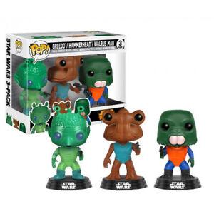 Funko Pop Pack 3 Figuras Star Wars Cantina - Greedo Hammerhead y Walrus Man