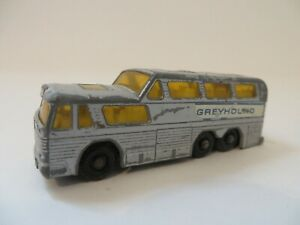 Matchbox 1-75 No.66 Greyhound Coach Silver Lesney Vintage