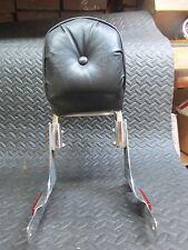 Harley Davidson Chrome Sportster XL Sissy Bar Backrest with Rack