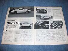 "1969 Gazelle GT VW Kit Car Vintage Info Article ""A Traffic-Stopper..."""