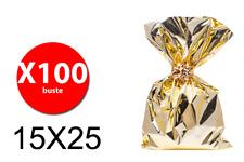 Balmar PF600202 - Taschen Geschenk Mtg-Größe - Gold - 15X25 - Conf. 100 Stk