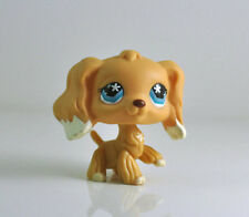 Littlest Pet Shop LPS Yellow COCKER SPANIEL 748 Blue Star Eyes White Ears Cream