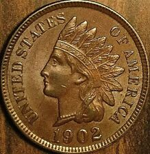1902 US INDIAN HEAD PENNY SMALL CENT COIN - Fantastic lightly lustrous example!