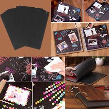 30pcs Scrapbook Photo Album DIY Mount Black Sheets Refill Pages 26*18cm Size