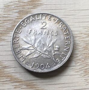 France 1904 Silver Two Francs