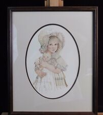 Jan Hagara Ltd Ed Print of Girl Holding a Baby Doll Signed & Numbered
