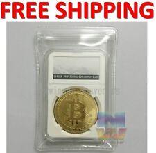1PCS BIT Bitcoin coin Collectible BTC art Coin 24k gold plated round bullion NEW