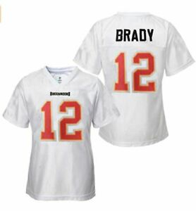 Tom Brady Tampa Bay Buccaneers #12 Youth Girls Jersey 7-16 Player Name & Number
