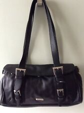 BETTY BARCLAY real leather ladies black underarm tote shoulder bag